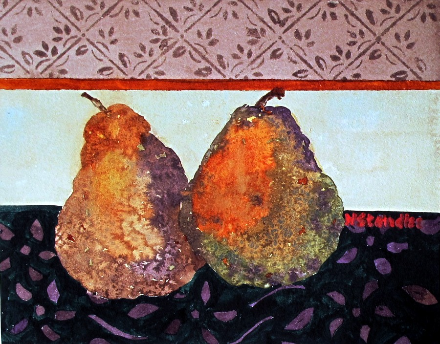 """""""Pears III 11106 (On HOLD for a show till Feb)"""" original fine art by Nancy Standlee"""