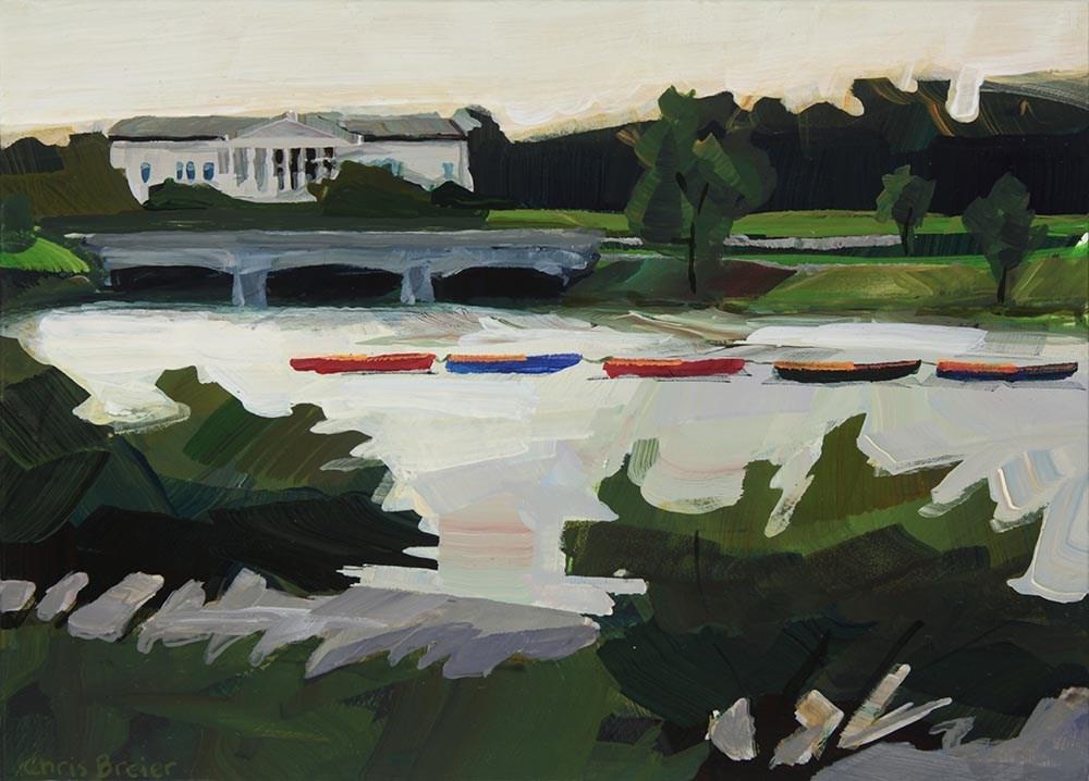 """Row Boats"" original fine art by Chris  Breier"