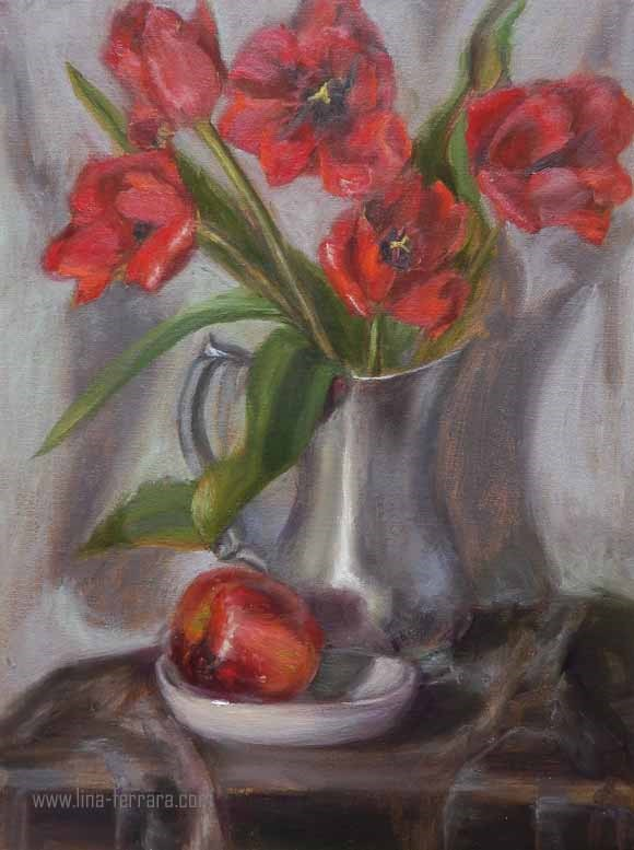 """Rouge in Midlife"" original fine art by Lina Ferrara"