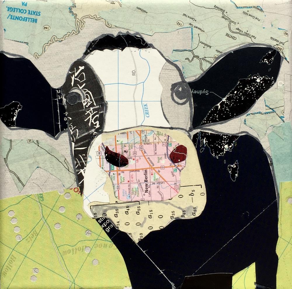 """Math Cow"" original fine art by Diane Paroda"