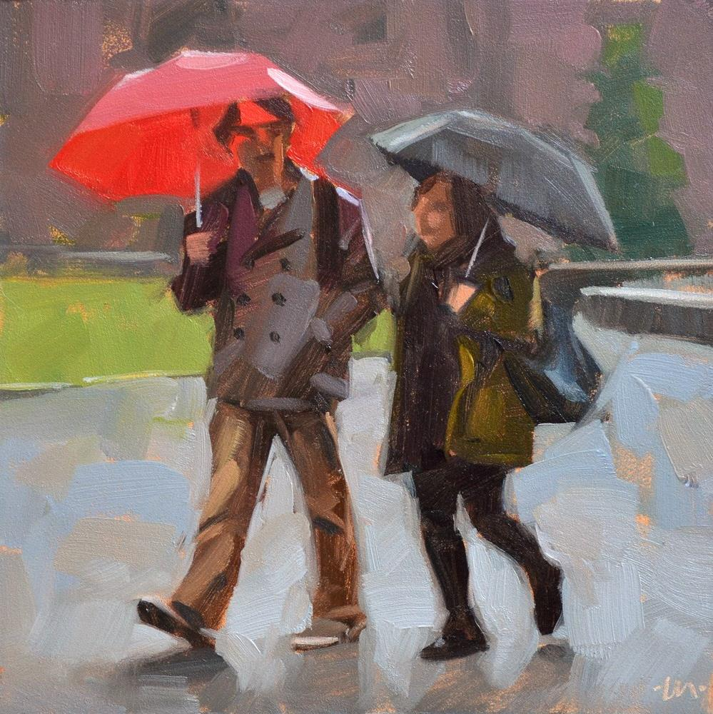 """Staying Dry"" original fine art by Carol Marine"