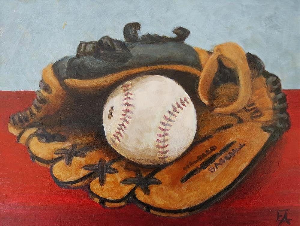 """""""Benched. Time for School."""" original fine art by Elizabeth Elgin"""