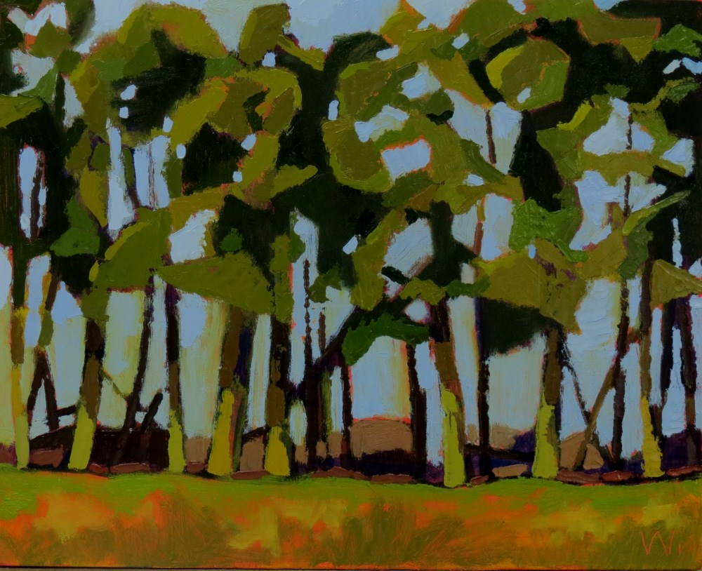 """Cedar Row"" original fine art by Joan Wiberg"