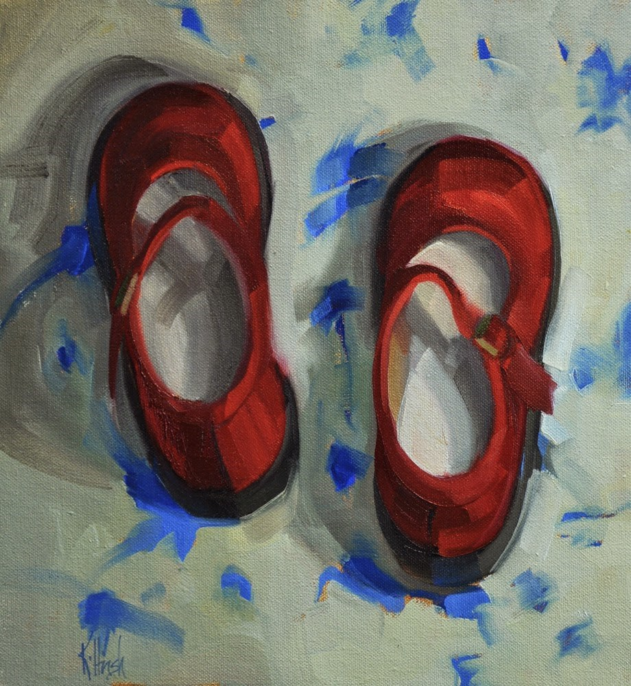 """Red Shoes 3"" original fine art by kathy hirsh"