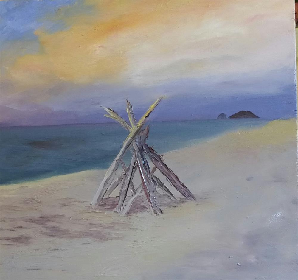 """Beach Fort"" original fine art by Kim Homes"
