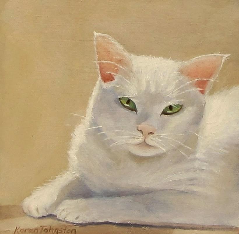 """Miss Daisy"" original fine art by Karen Johnston"