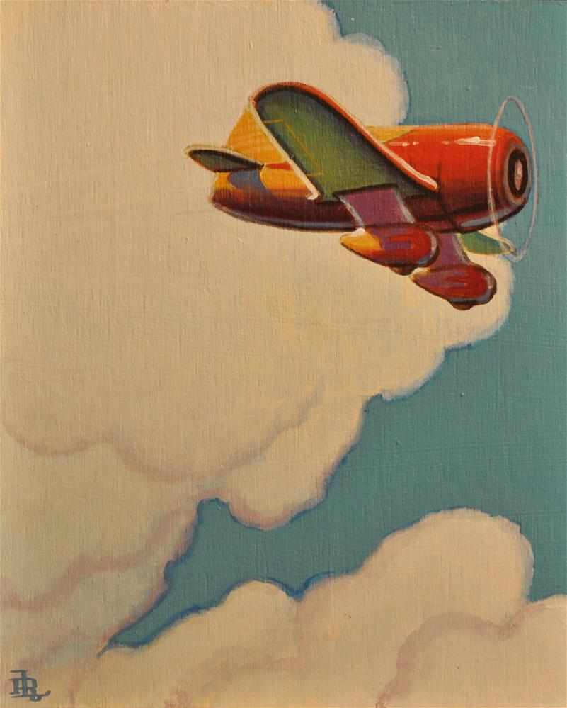 """Racing Plane"" original fine art by Robert LaDuke"