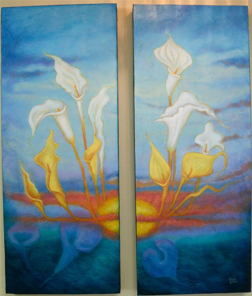 """Calla Sunrise"" original fine art by Karen Roncari"