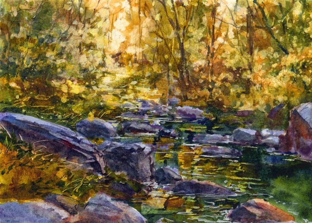 """Sunlight Through the Leaves"" original fine art by Linda Henry"