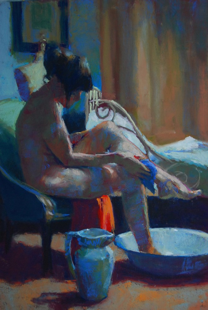 """Rosza Bathing"" original fine art by Margaret Dyer"