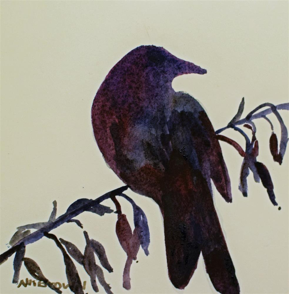 """Black Bird"" original fine art by Nancy Brown"