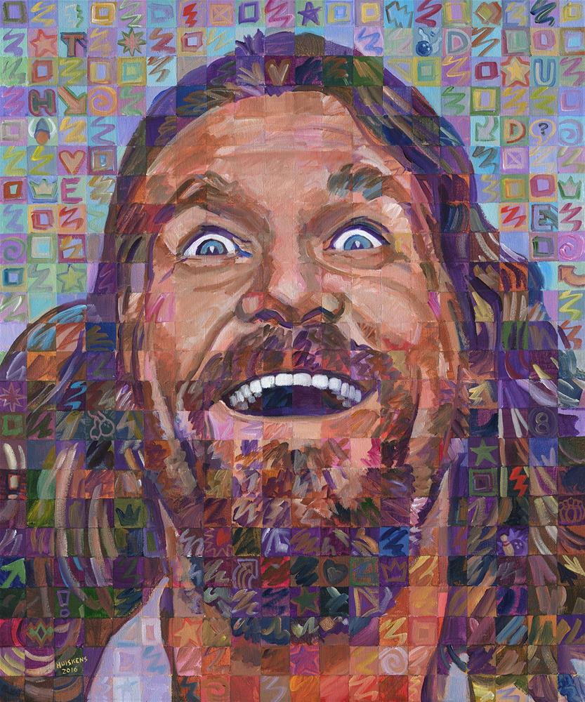 """The Dude (Jeff Bridges)"" original fine art by Randal Huiskens"
