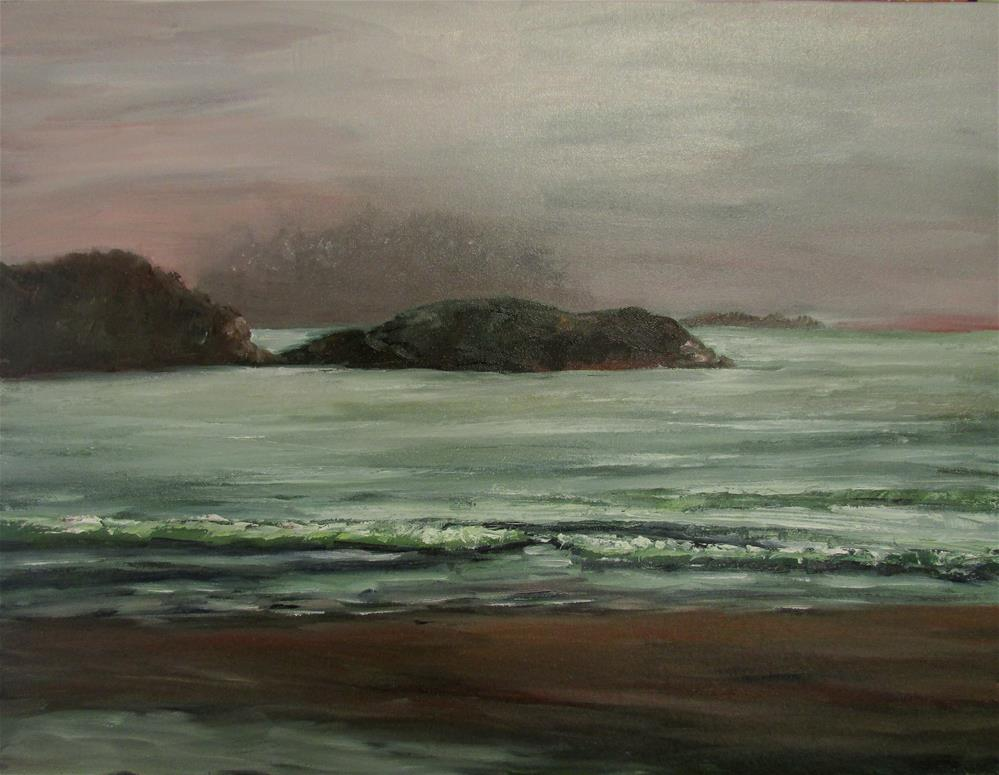 """18 x 24 inch oil Tofino Beach"" original fine art by Linda Yurgensen"