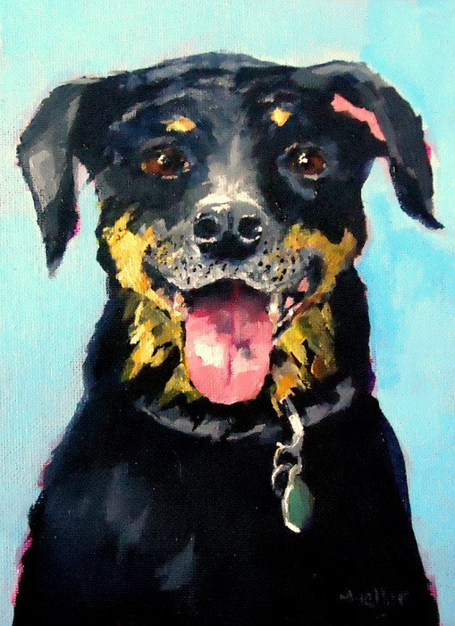 """Samson"" original fine art by Laurie Mueller"