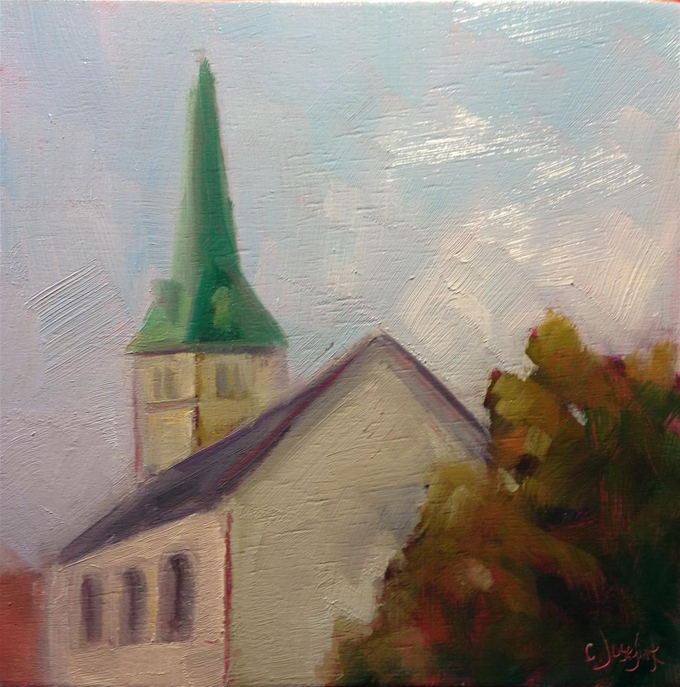 """Church"" original fine art by Carol Josefiak"