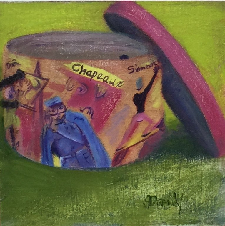 """Chapeaux Unique in Green"" original fine art by Stephanie Drawdy"