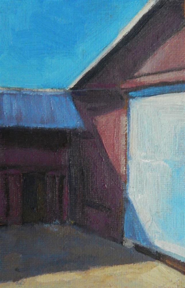 """A Red Barn"" original fine art by Lisa Kyle"