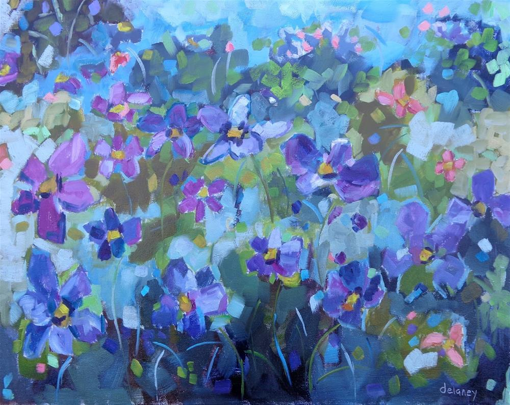 """FLOWER FROLIC"" original fine art by Jean Delaney"