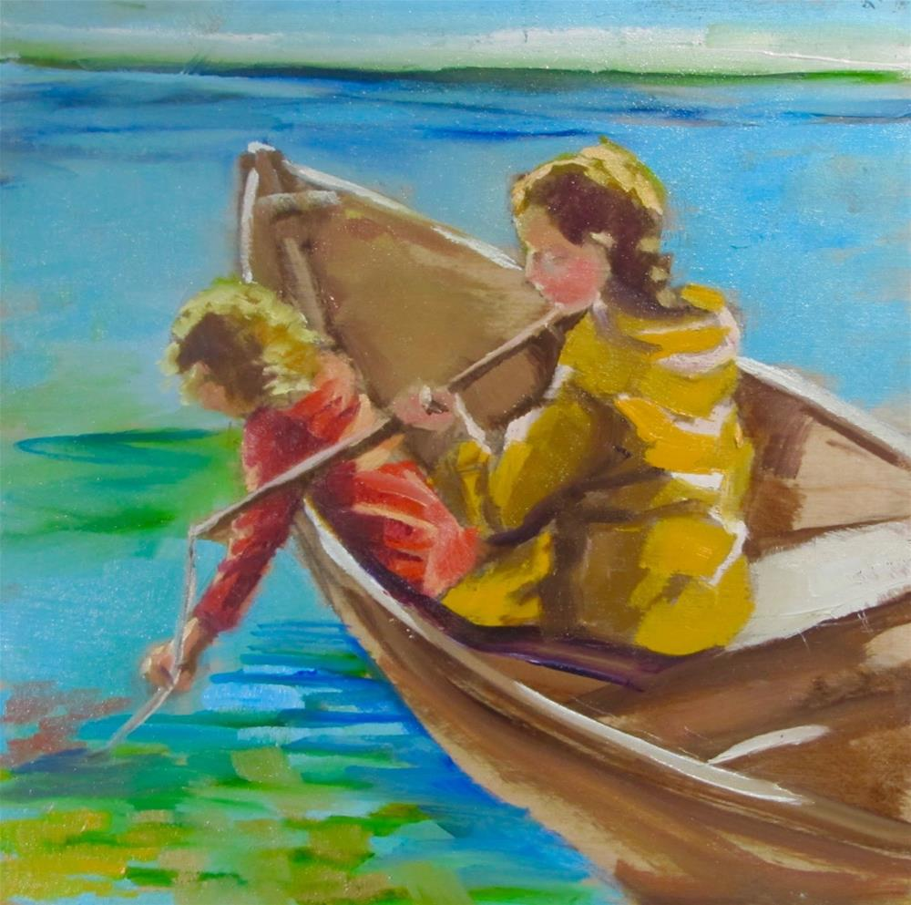 """The fishing Expedition"" original fine art by Christine Holzschuh"