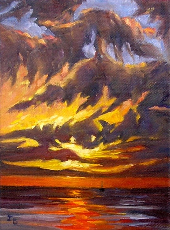 """Sunset Study"" original fine art by Irina Beskina"
