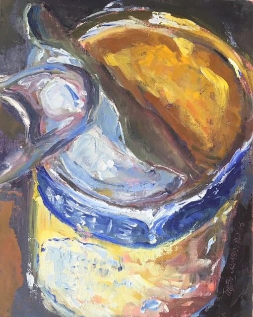 """Pot of Gold"" original fine art by Thea Lombaard"