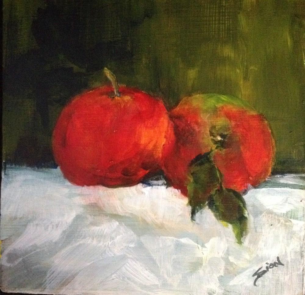 """My Sexy Apples"" original fine art by Sue Dion"