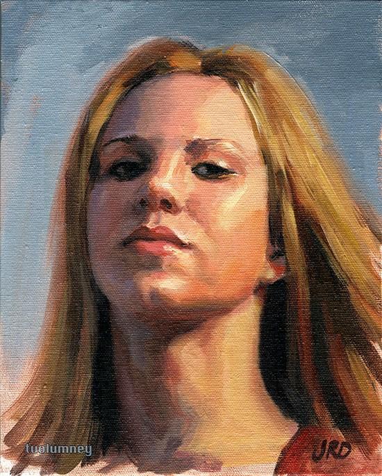 """Long Neck - Zorn Palette"" original fine art by J. Dunster"