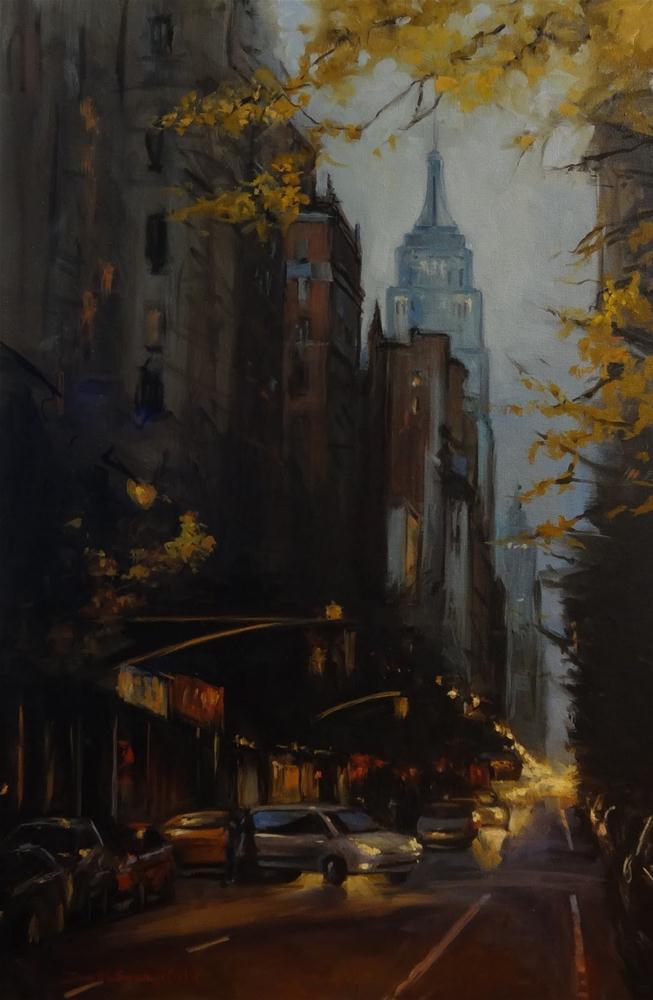 """Autumn in New York"" original fine art by Jonelle Summerfield"