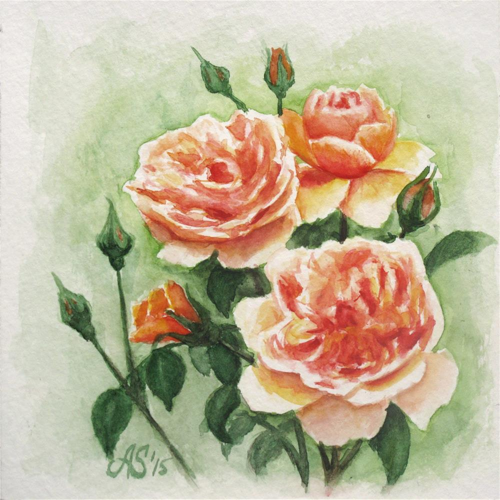 """Rose buds"" original fine art by Anna Starkova"