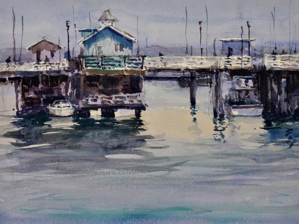 """Last Day on the Wharf"" original fine art by Brienne M Brown"