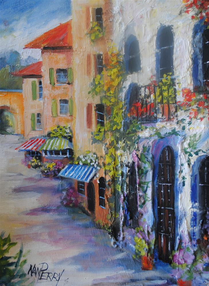 """Via dei  Fiori"" original fine art by Nan Perry"