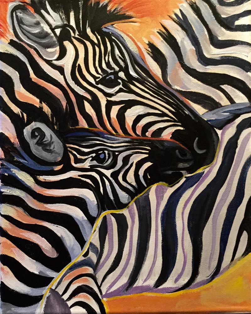 """Zebra Pileup"" original fine art by Lauren Kuhn"