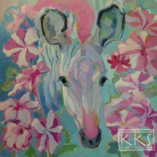 """Pinwheels, in Process"" original fine art by Kimberly Santini"