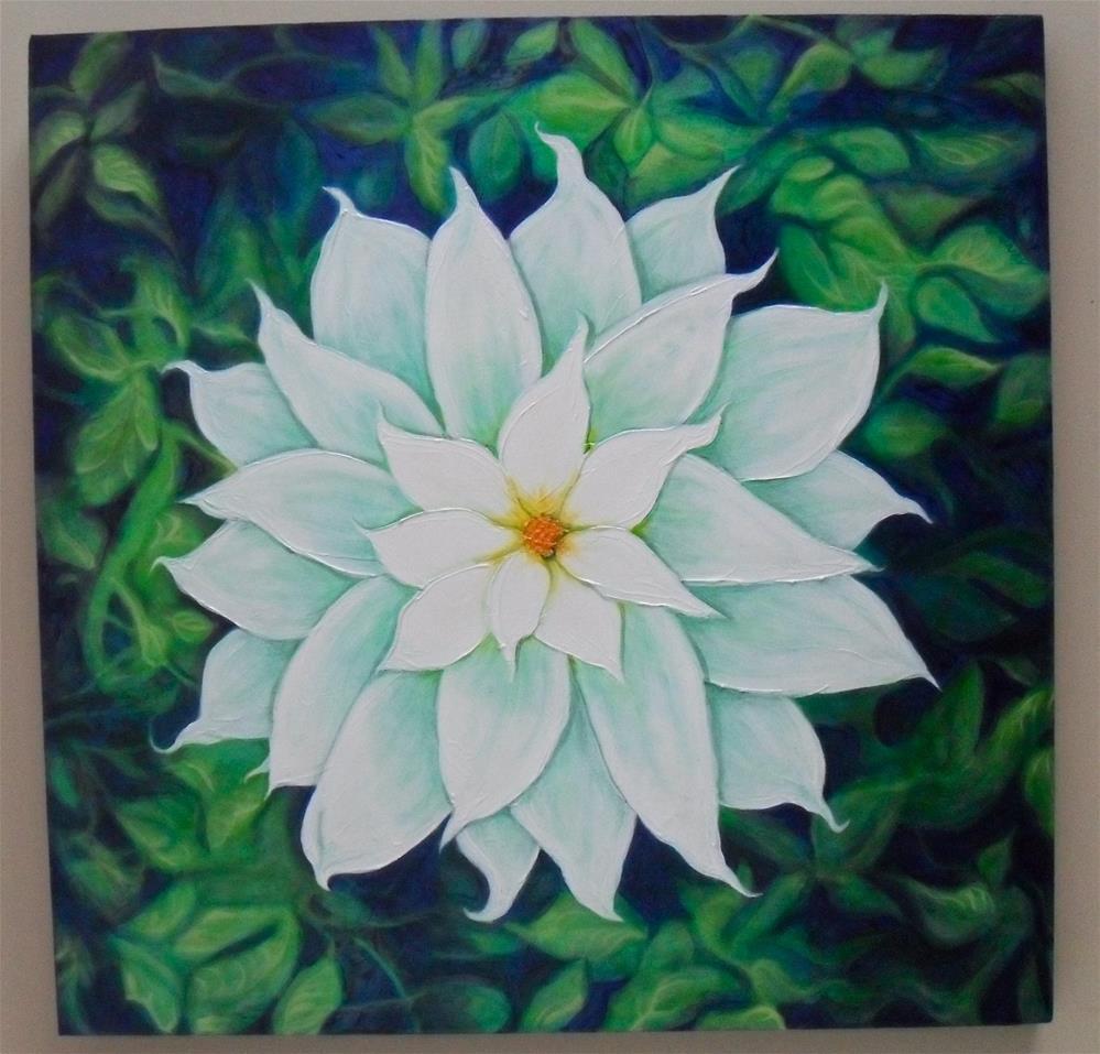 """Poinsetta"" original fine art by Karen Roncari"