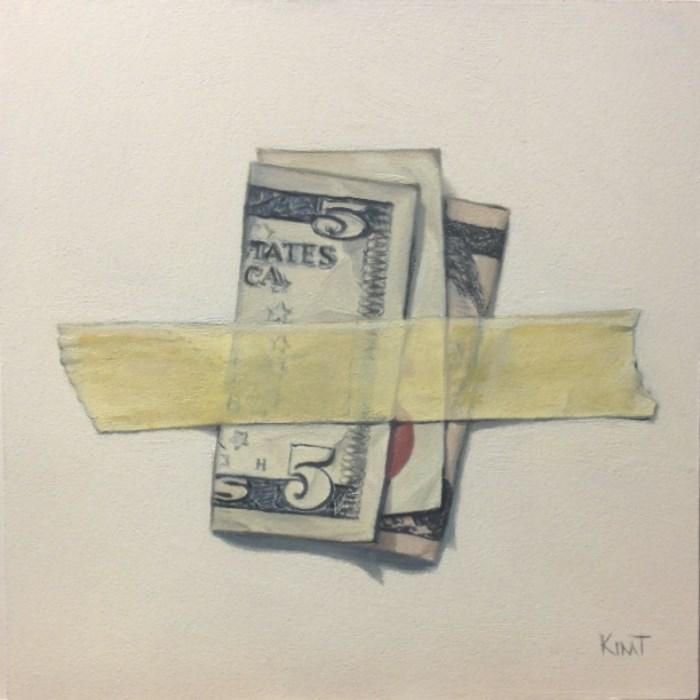 """Five Dollars"" original fine art by Kim Testone"