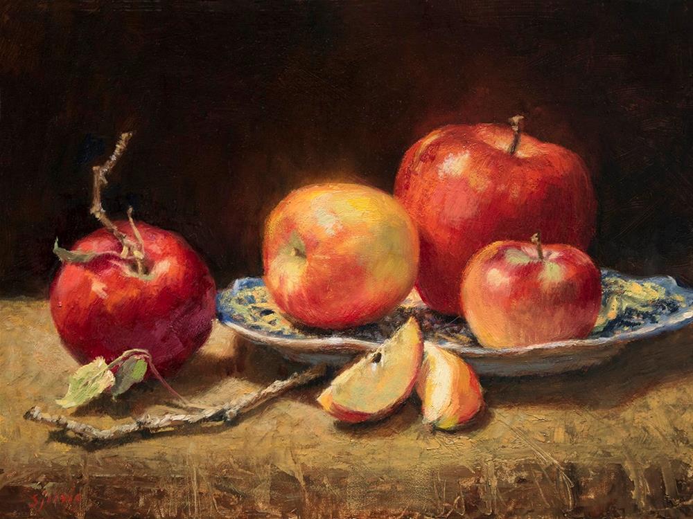 """Les Pommes"" original fine art by Susan N Jarvis"