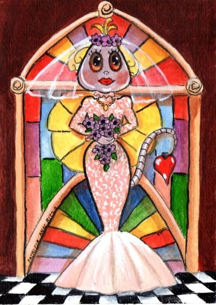 """The Alien Bride"" original fine art by Patricia Ann Rizzo"