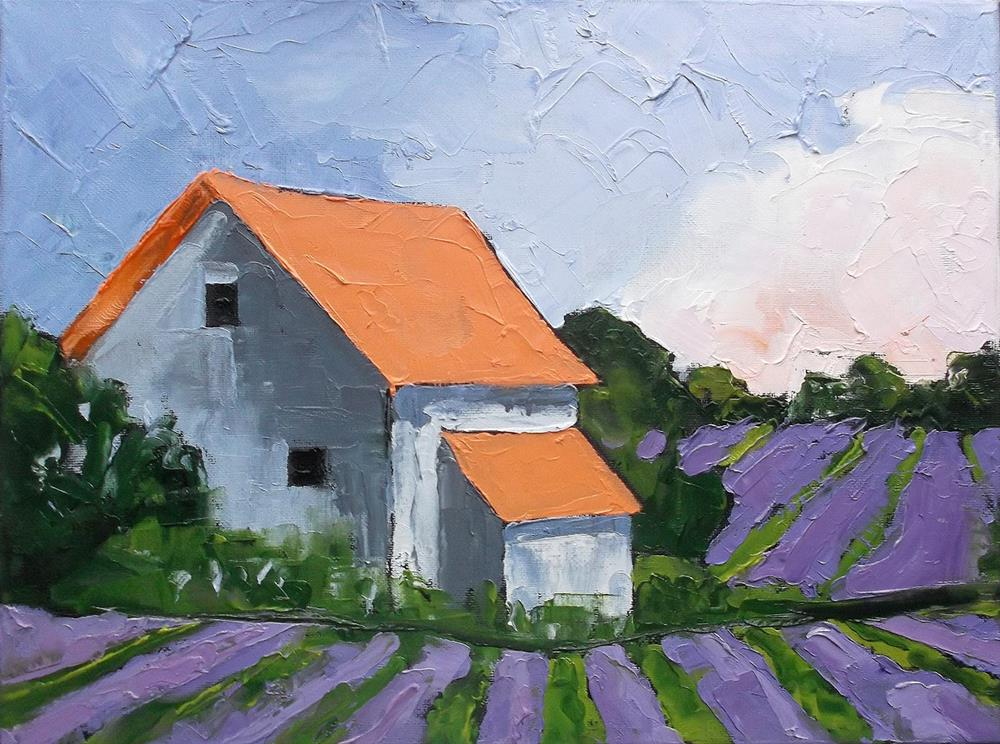 """Provence Lavender Farm"" original fine art by lynne french"