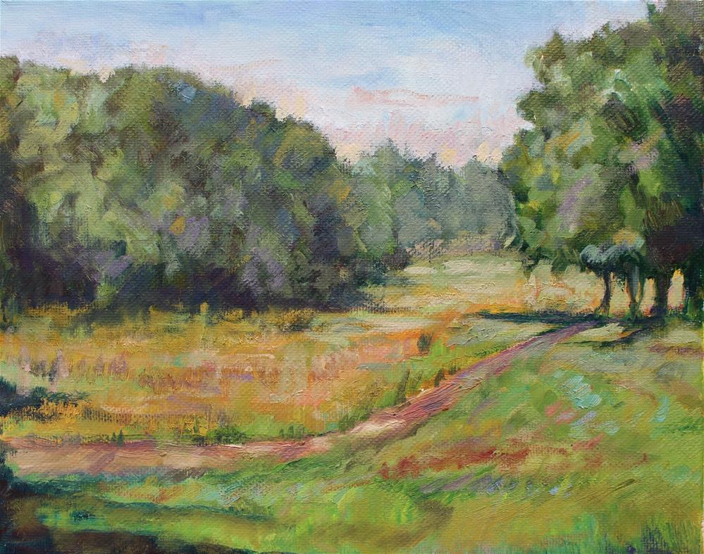 """Summer Day at Kennesaw Mtn. Near Illinois Monument"" original fine art by Allison Doke"