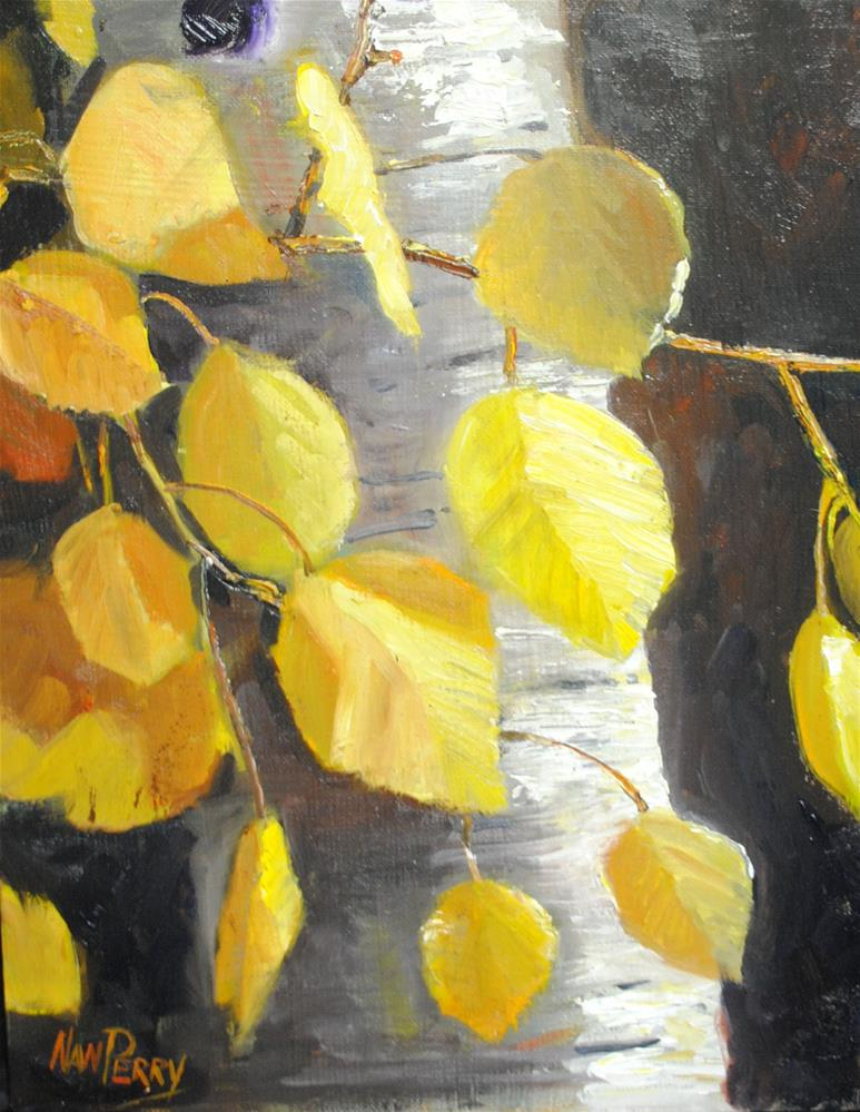 """Aspen, Up Close and Personal "" original fine art by Nan Perry"