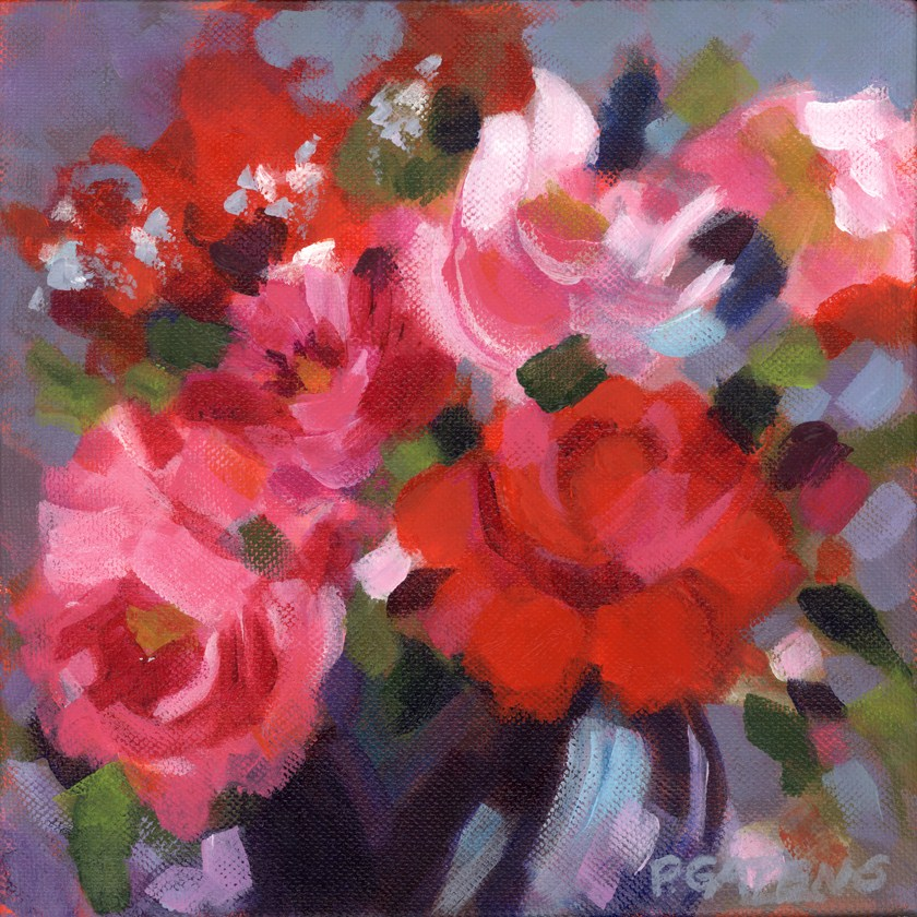 """Red, Red Roses"" original fine art by Pamela Gatens"