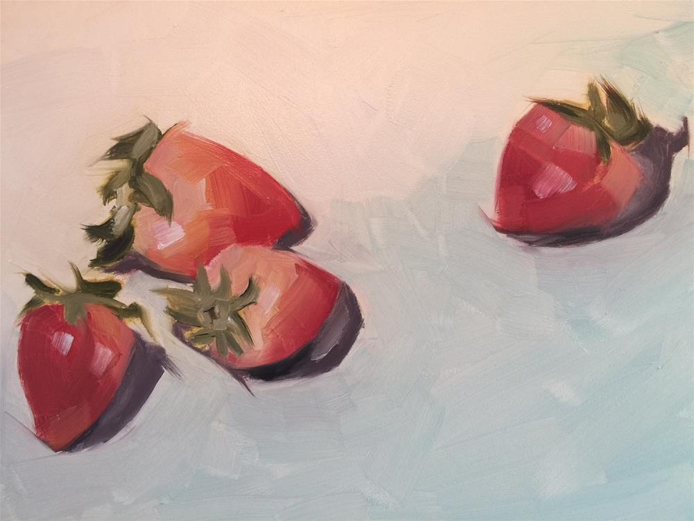 """369 Strawberries"" original fine art by Jenny Doh"