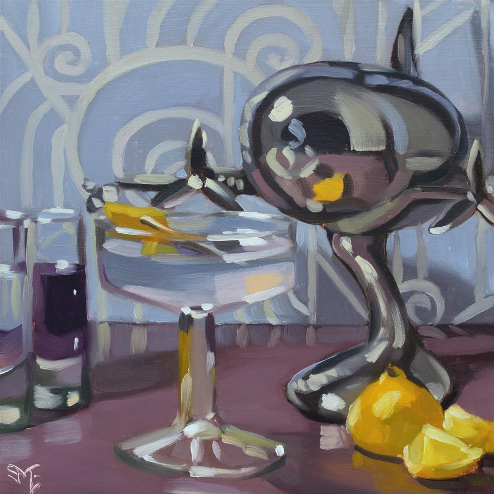 """Purple Skies"" original fine art by Sheila Evans"