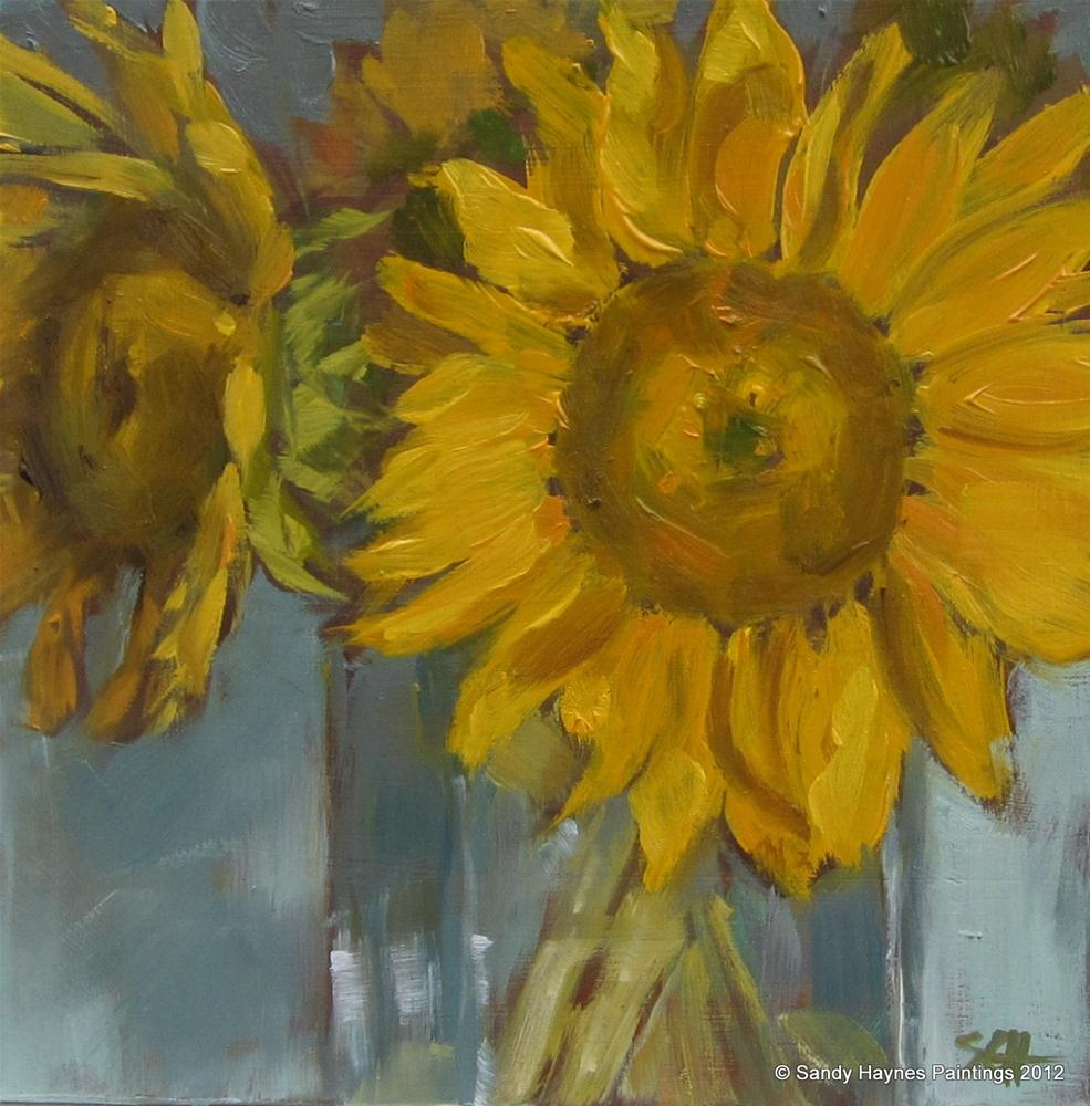 """Yellow centers too"" original fine art by Sandy Haynes"