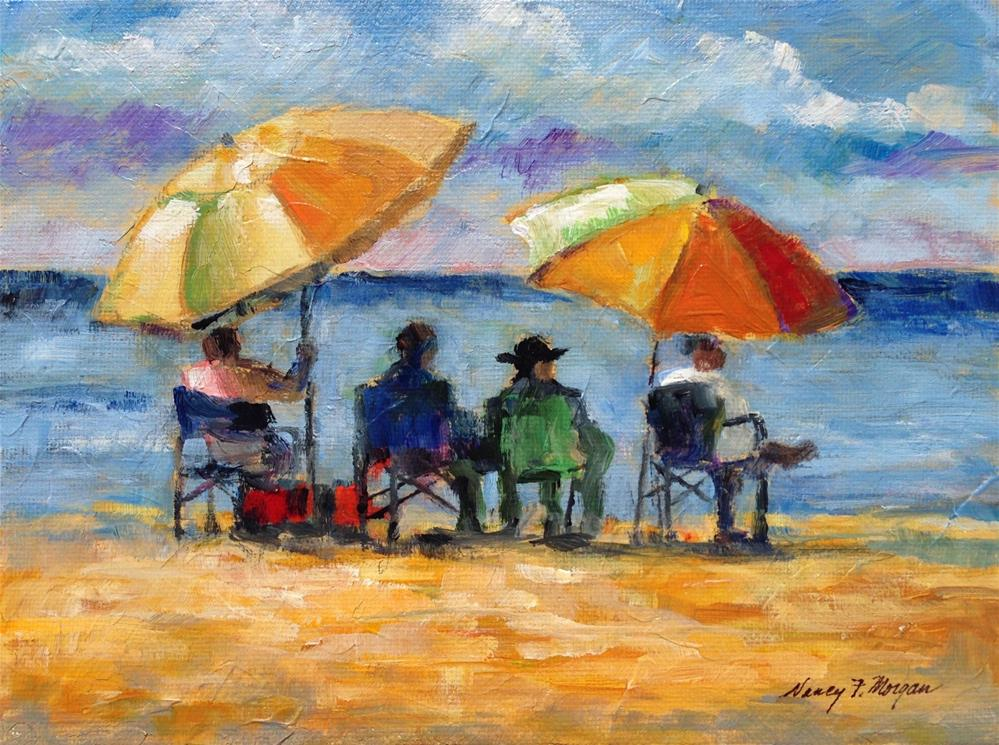 """Life's a Beach"" original fine art by Nancy F. Morgan"