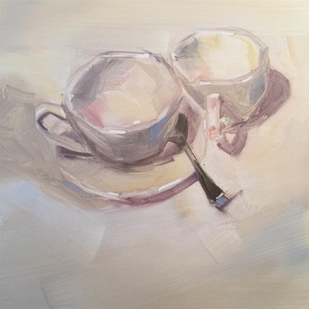 """447 Tea with Me"" original fine art by Jenny Doh"