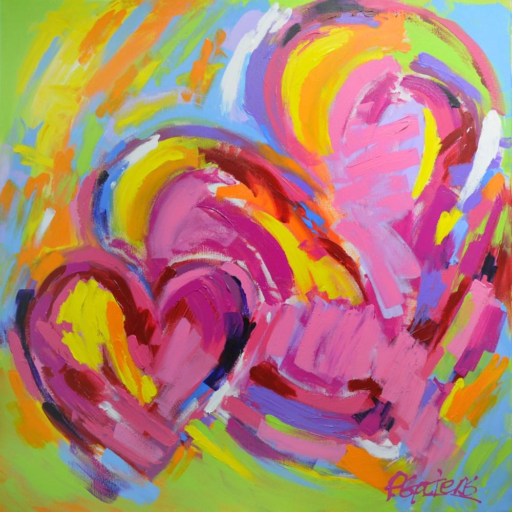 """Hearts for Heidi"" original fine art by Pamela Gatens"