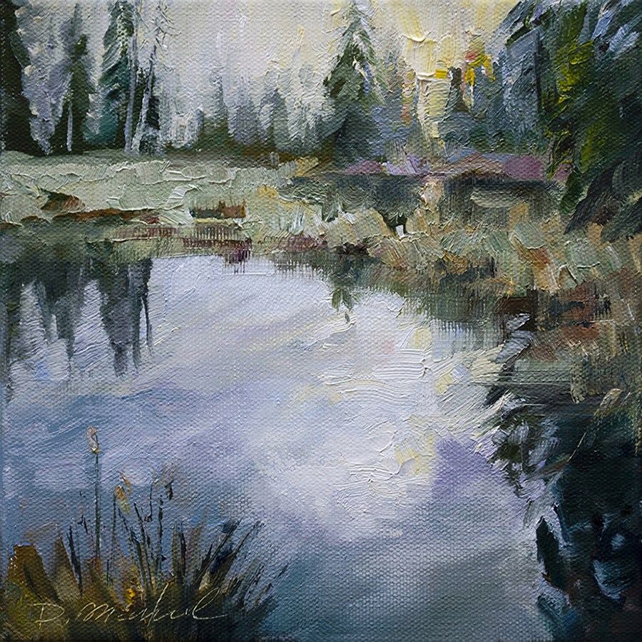 """Clearing Skies, Old Beaver Dam"" original fine art by Denise Maxwell"