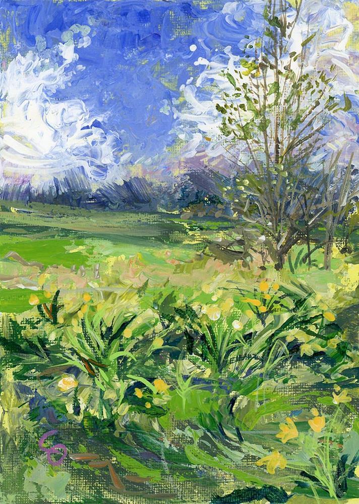 """April Winds"" original fine art by Chris Ousley"