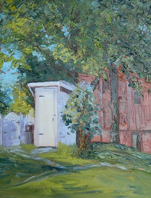 """Out House"" original fine art by Gloria Urban"